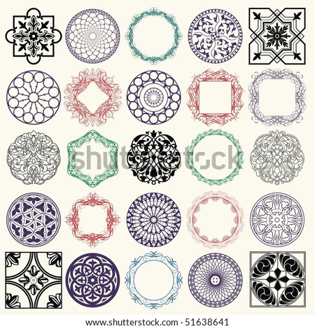 Ornament set - stock vector