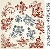Ornament vector collection. Floral decor vintage elements - stock vector