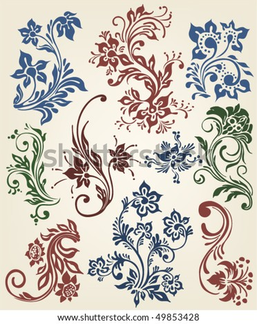 ornament vector floral decoration - stock vector