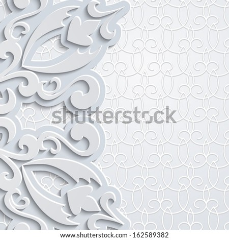 Ornamental background in neutral color, vector eps10 - stock vector