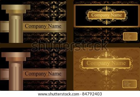 ornamental business Card Template. Design vector - stock vector