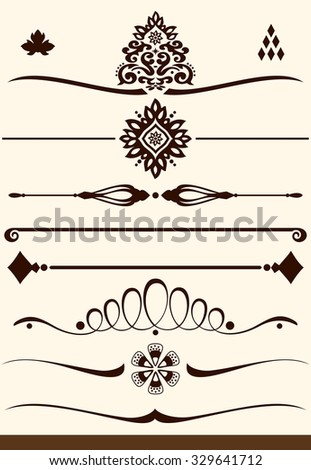 Ornamental dividers and decorations - stock vector