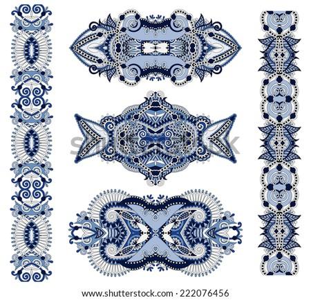 ornamental floral adornment, vector illustration - stock vector