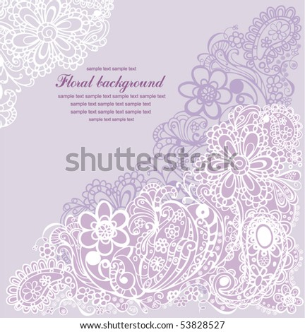 ornamental floral background - stock vector