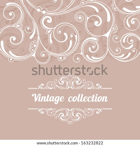 Ornamental floral background. Vector pattern for invitation or greeting card