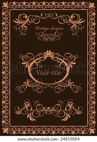 ornamental frame - stock vector