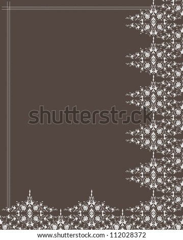 Ornamental frame and pattern. Vector - stock vector