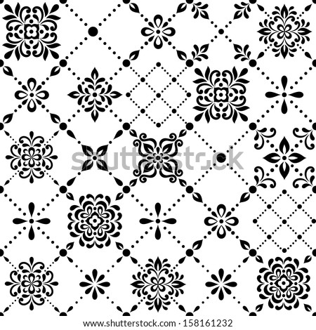 Ornamental geometric floral background. Seamless pattern for your design wallpapers, pattern fills, web page backgrounds, surface textures. - stock vector