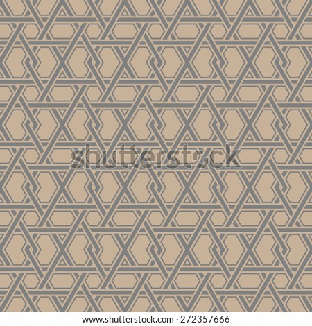 Ornamental Geometric Seamless Pattern. Vector Abstract Background.