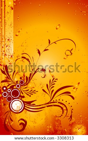 Ornamental grunge design - stock vector