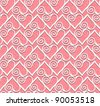 Ornamental heart lace pattern. Seamless vector background. - stock vector