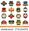 Ornamental labels set. Easy to scale and edit. All pieces are separated. - stock vector