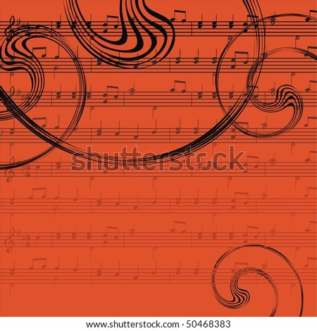 Ornamental music background