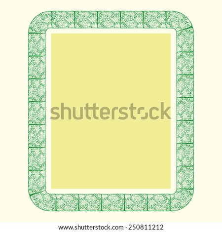 ornamental page border hand draw - stock vector