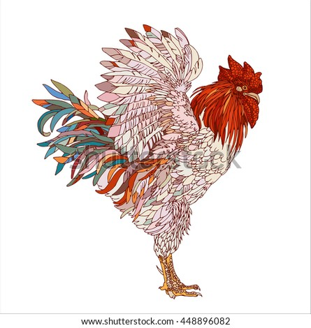 ornamental rooster multicolored