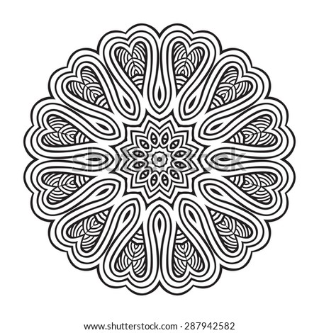 Ornamental round lace - stock vector