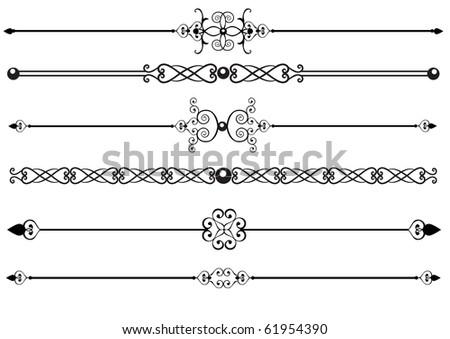 Ornamental rule or rule lines - stock vector