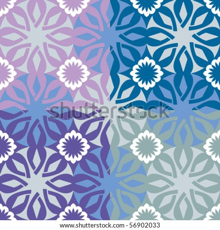 ornamental seamless background, vector image - stock vector