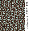 Ornamental seamless ornamental pattern. Vector abstract background. - stock vector