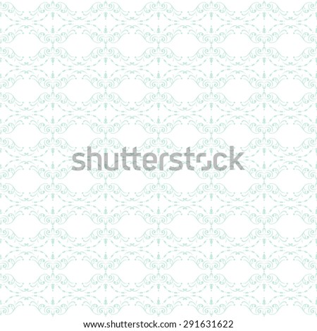 Ornamental seamless pattern. Retro curly wallpaper. Vector abstract background. - stock vector