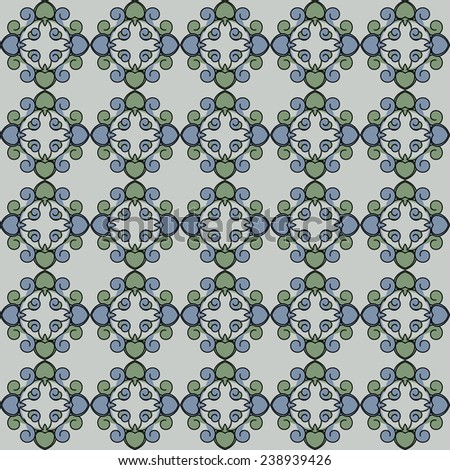 Ornamental seamless pattern. Vector abstract background. design textiles - stock vector