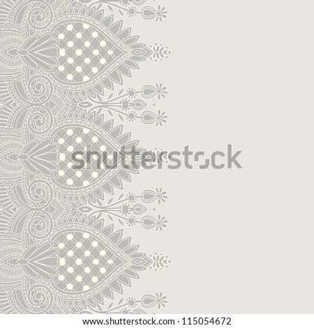 Ornamental seamless stripe, decorative element - stock vector
