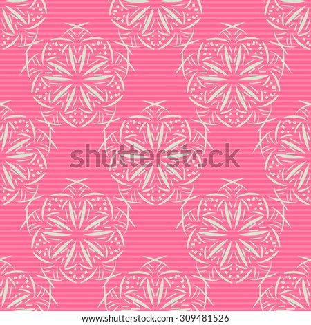 Ornamental seamless vector pattern, floral background, print, repeating wallpapers , vintage style, design tile, retro abstract backdrop in bright colors