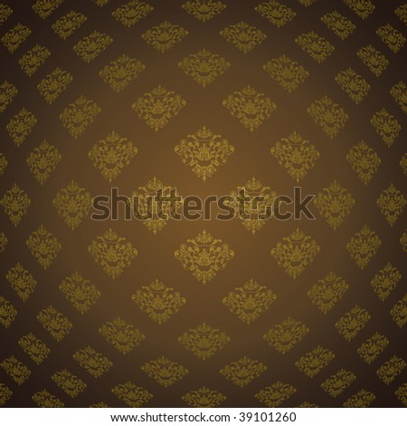 ornamental wallpaper and pattern - stock vector