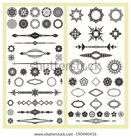 Ornaments and geometric patterns