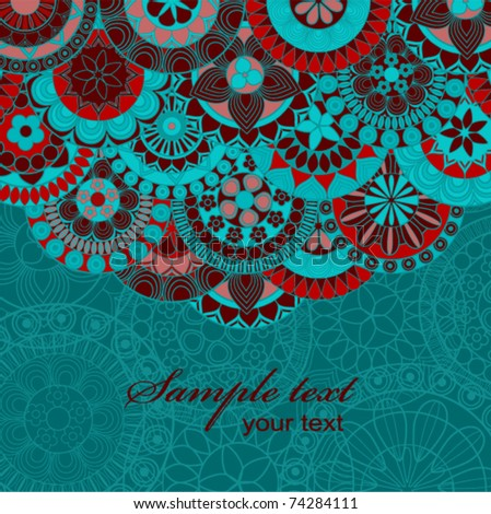 Ornate background with copy space. - stock vector