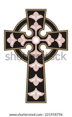 Ornate Christian Cross Vector - stock vector