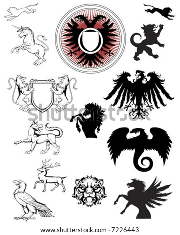 ornate crest emblems