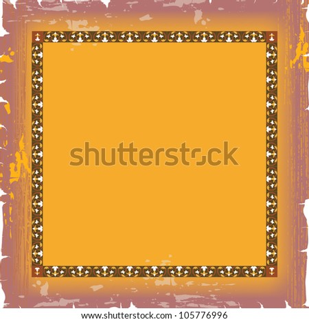 Ornate damask background - stock vector