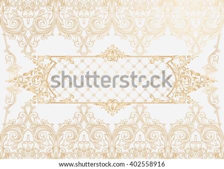 Ornate decorative background - stock vector