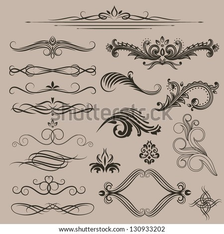 Ornate design elements collection