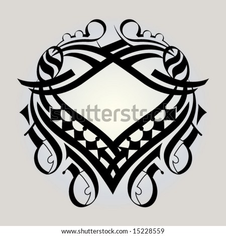 ornate design series heart - stock vector