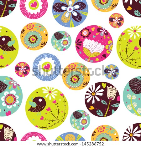 Ornate floral seamless texture, endless pattern with flowers. Seamless pattern can be used for wallpaper, pattern fills, web page background, surface textures. - stock vector