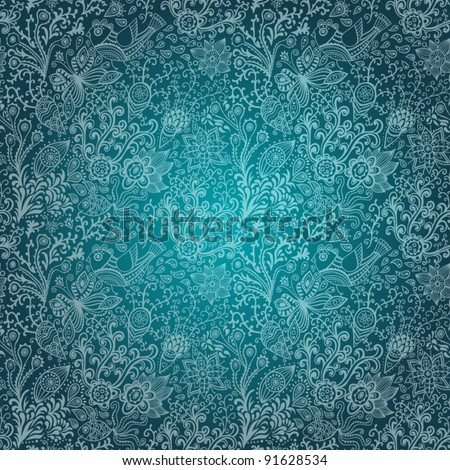Ornate floral seamless texture, endless pattern with flowers. Seamless pattern can be used for wallpaper, pattern fills, web page background, surface textures. Gorgeous seamless floral background - stock vector