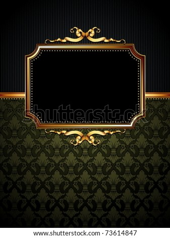 ornate frame - stock vector