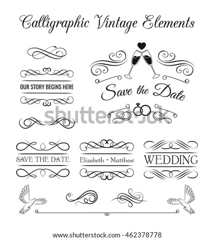 Ornate frame elements vintage filigree decoration stock vector 2018 ornate frame elements vintage filigree decoration filigree ornate frame element divider scroll swirl stopboris Image collections