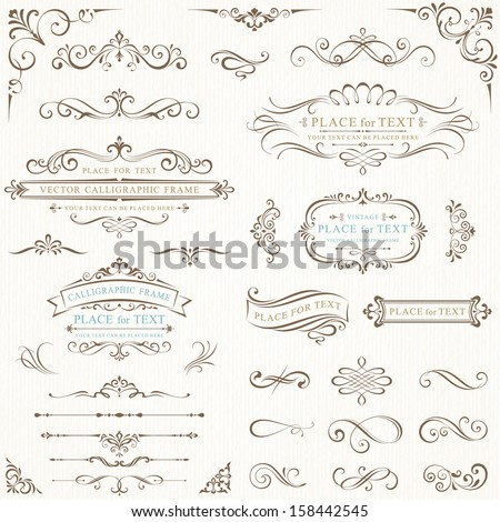 Ornate Frames Scroll Elements Stock Vector HD (Royalty Free ...