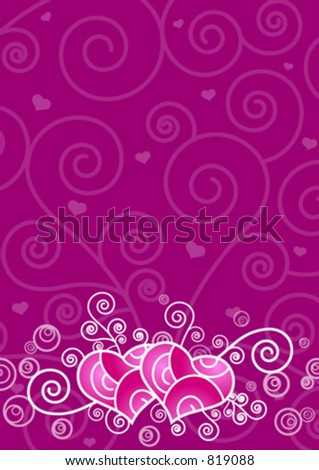 Ornate hearts background