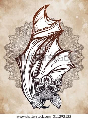 Ornate nocturnal bat w...
