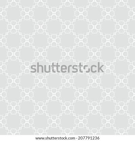 Ornate seamless vintage background pattern - stock vector