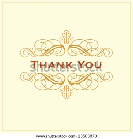 Ornate Thank You Gift Card