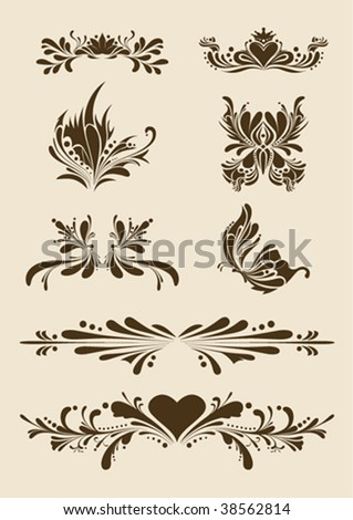 Ornate vector elements - stock vector