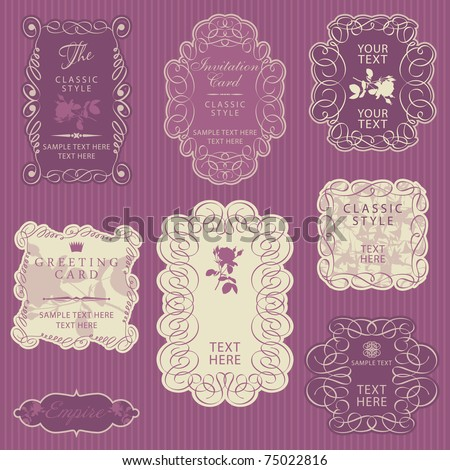 Ornate vector frames - stock vector