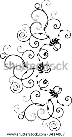 Ornate, victorian style design in vector format. - stock vector