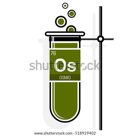 Osmio symbol osmium spanish language on stock vector 518929402 osmio symbol osmium in spanish language on label in a green test tube with urtaz Choice Image