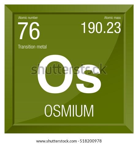 Osmium Symbol Element Number 76 Periodic Stock Vector 518200978